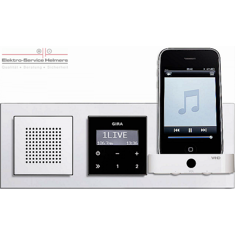 gira radio unterputz brandbek mpfung sprinkler system. Black Bedroom Furniture Sets. Home Design Ideas