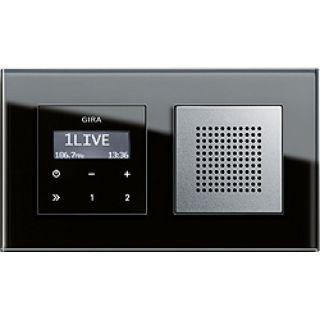 gira unterputz radio esprit mit rds funktion und hochwertige glas. Black Bedroom Furniture Sets. Home Design Ideas