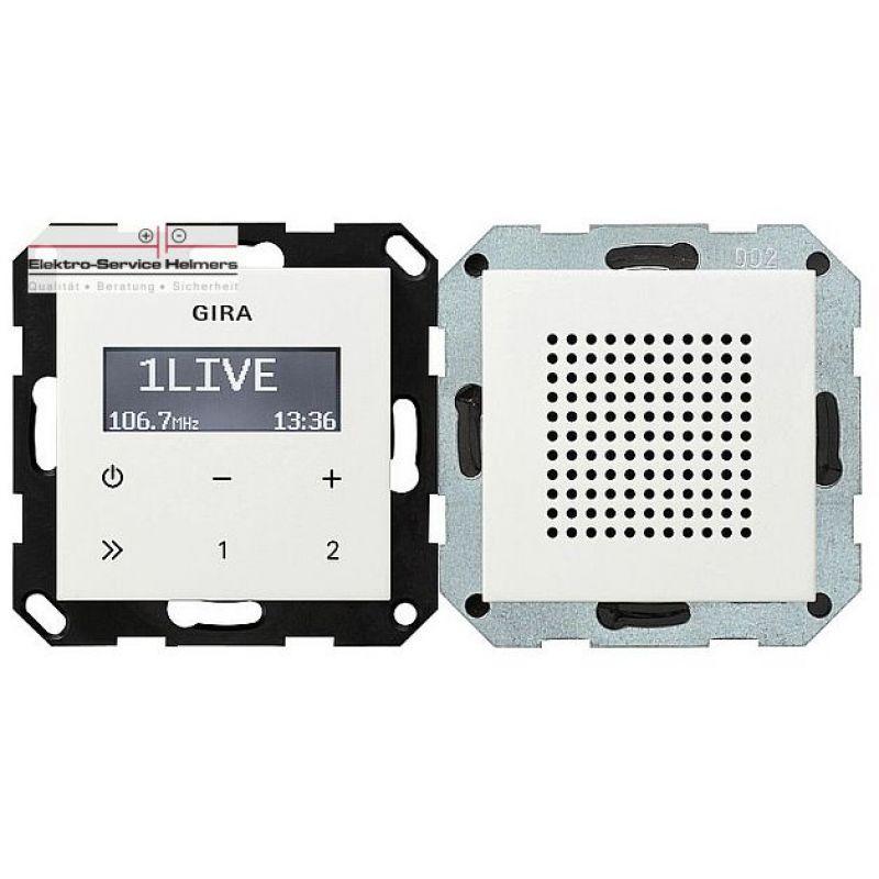 gira unterputz stereo radio rds radio in reinwei gl nzen. Black Bedroom Furniture Sets. Home Design Ideas