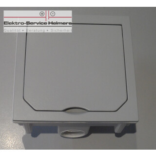 Fu bodensteckdose abl 1471460 mit selbstschliessendem for Deckel elektrodose